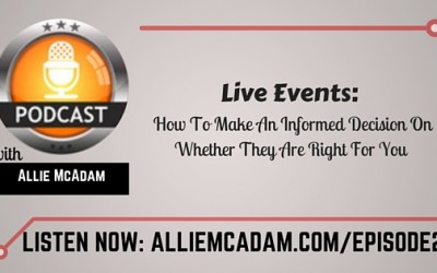 PIB21 – Live Events: How To Make An Informed Decision On Whether They Are Right For You