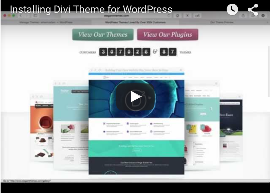 (DIVI VID)  Installing the divi theme